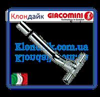 Тройник с медной хромированной трубкой Giacoqest 1/2х15 L300MM