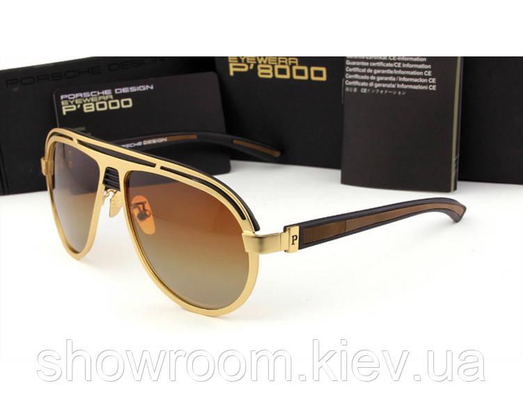 Солнцезащитные очки в стиле Porsche Design  (p-214) gold