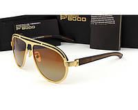 Солнцезащитные очки в стиле Porsche Design  (p-214) gold, фото 1