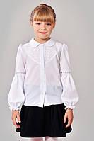 Школьная блуза для девочки с кружевными вставками