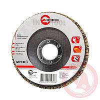 Диск шлифовальный лепестковый 115x22 мм; зерно K36 INTERTOOL BT-0103