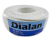 Коаксиальный кабель Dialan 3С2V, сечение 0.50 мм. медь, 100м., 75 Ом