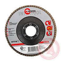 Диск шлифовальный лепестковый 115x22 мм; зерно K60 INTERTOOL BT-0106
