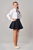 Подростковая школьная блуза с изящными завязками
