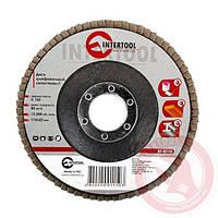 Диск шлифовальный лепестковый 115x22 мм; зерно K150 INTERTOOL BT-0115
