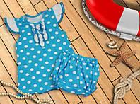 Костюм туника и шорты для девочки (разные цвета)