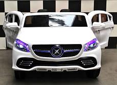 Детский двухместный электромобиль JJ609 EBR белый, колеса EVA, пульт Bluetooth, плавный старт, фото 3