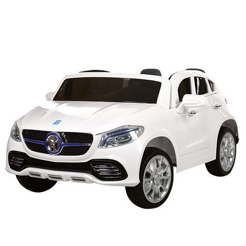 Детский двухместный электромобиль JJ609 EBR белый, колеса EVA, пульт Bluetooth, плавный старт