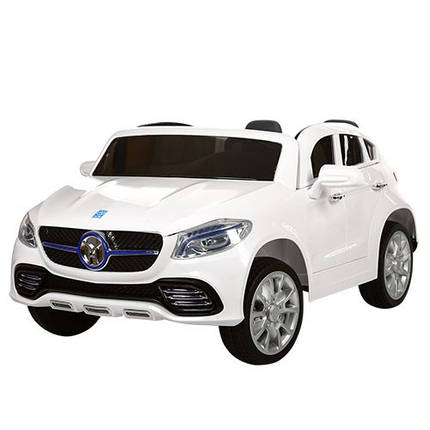 Детский двухместный электромобиль JJ609 EBR белый, колеса EVA, пульт Bluetooth, плавный старт, фото 2