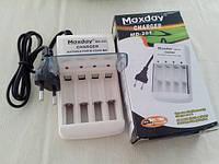Зарядное для аккумуляторов Maxday MD-201, зарядное устройство для аккумуляторных батареек,