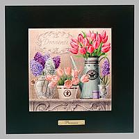 Картинка Прованс New Тюльпан 20*20 (коричн. рамка)
