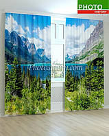 Фотошторы залив у альпийских гор 3D