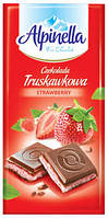 Молочный шоколад Alpinella «Czekolada Truskavkova» STRAWBERY (с клубничным пралине), 100 г