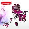 Игровая коляска Adbor LILY для девочек. Цвет К-16