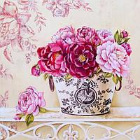 """Картина по номерам без упаковки """"Английские розы"""", 40х40см. (КНО2914)"""