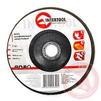 Диск шлифовальный лепестковый 180x22 мм зерно K100 INTERTOOL BT-0230