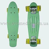 """Со светящимися колесами скейтборд пенни борд пастель бирюзовый penny board original 22"""", фото 1"""