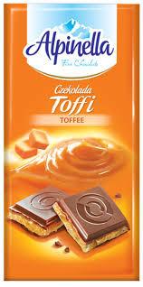 Молочный шоколад Alpinella «Czekolada Toffia» TOFFY (с карамельным пралине), 100 г