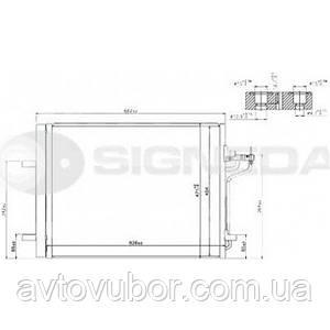Радиатор кондиционера Ford C-MAX 11-- RC940183Q 8V6119710FA