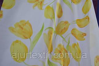 """Тюль вуаль """" Тюльпан"""" желтый, фото 2"""