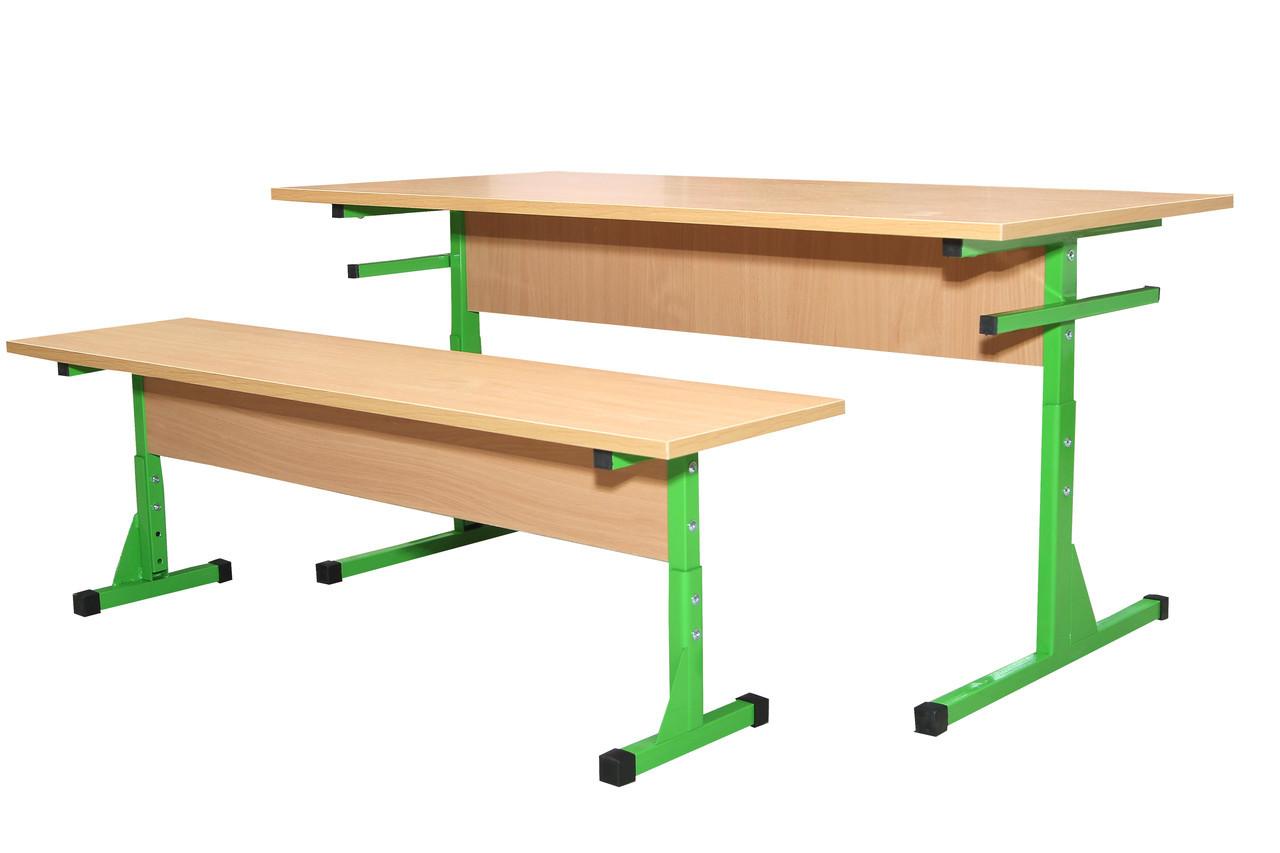 Комплект стол+ 2 скамьи для столовых