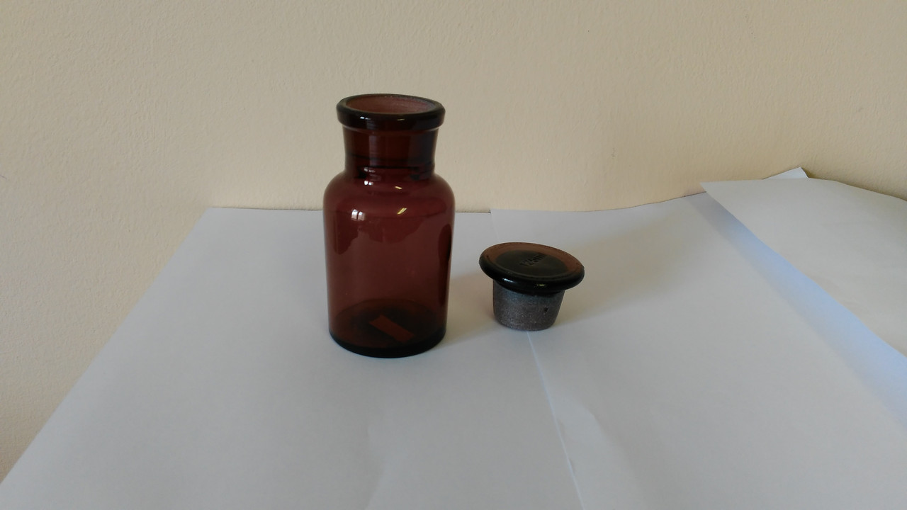 Бутыль для реактивов темное стекло, 125мл.