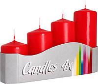 Набор декоративных свечей цилиндров BISPOL