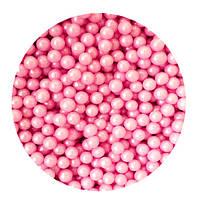 """Посыпка """"Жемчужные шарики (розовые) 3 мм."""", 50 гр."""