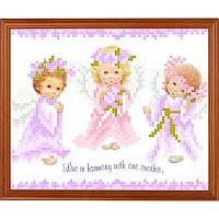 """Рисунок-схема на ткани """"Ангелочки"""" СГ (АР) 5204 Світ Гармонії"""