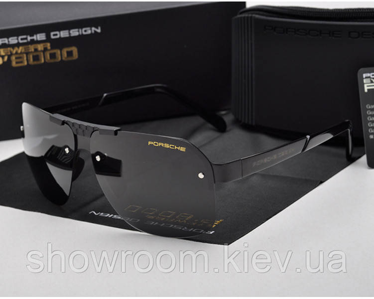 Солнцезащитные очки в стиле в стиле Porsche Design  (p-8718) black