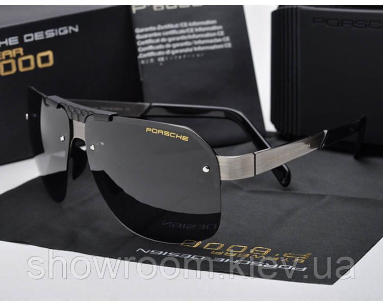Солнцезащитные очки в стиле Porsche Design  (p-8718) silver