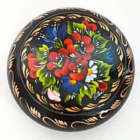 Украинский сувенир. Деревянная шкатулка Яркий букет