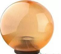 Шар диаметр 150 золотой призматический Lemanso PL 2102 макс.25W база с E2