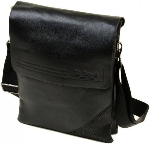 Практичная мужская вместительная сумка планшет из искусственной кожи dr.Bond 88335-4 black, черная