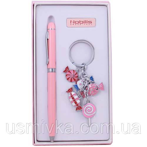 Набор для не курящих: шариковая ручка и брелок