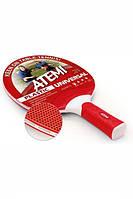 Пластиковая ракетка для настольного тенниса ATEMI Plastic Universal red