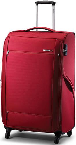 Яркий чемодан из нейлона на 4-х колесах CARLTON 072J468;73, красный, 76 л.