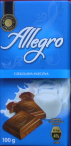 Молочный шоколад Allegro «Milk chocolate», 100 г