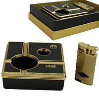 Стильный подарочный набор пепельница с зажигалкой Tiger PP19219