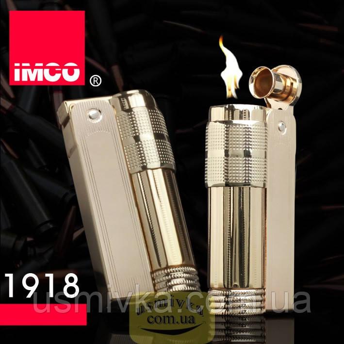 Фирменная бензиновая зажигалка imco 6700 Triplex gold
