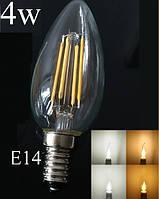 Светодиодная лампа Е14 4 Вт нейтральный белый (4200К) F