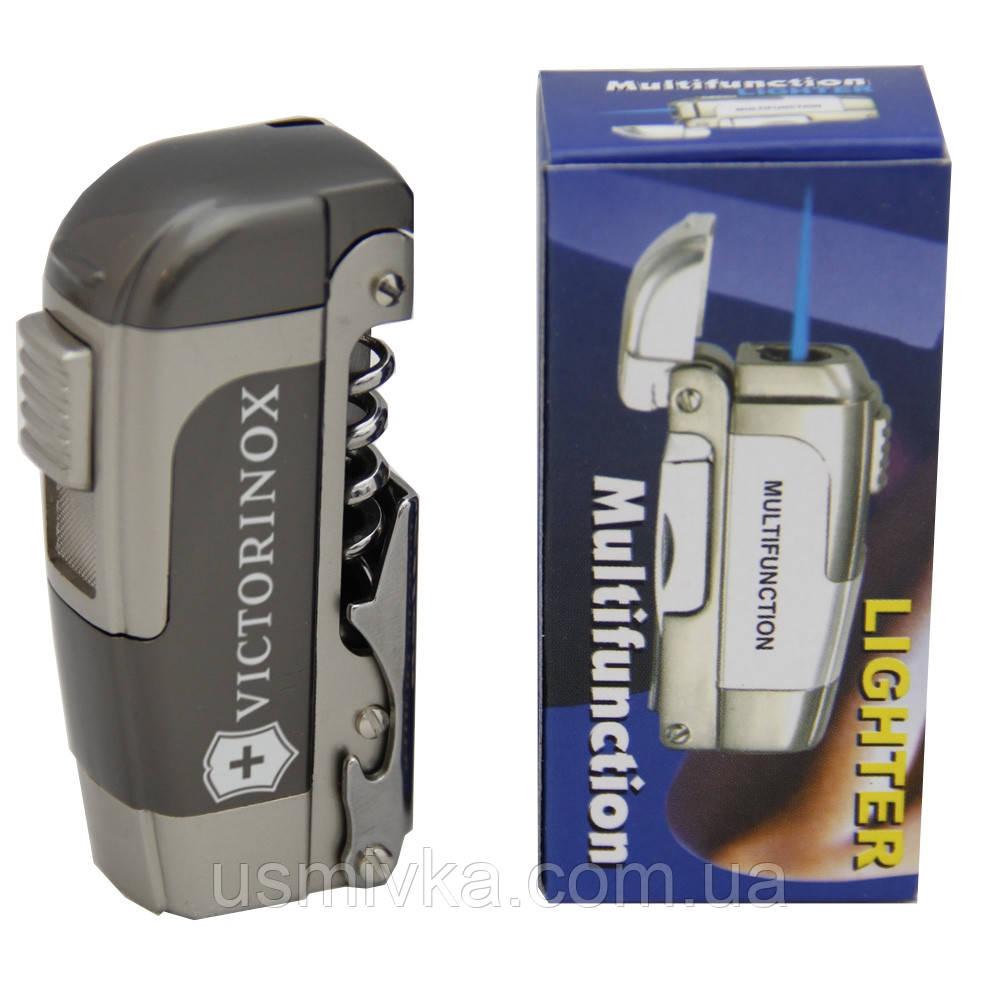 Зажигалка Victorinox. Ножик, открывашка, штопор. ZG40631
