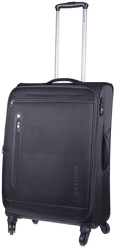 Черный чемодан из ткани на 4-х колесах CARLTON 100J455;01, 48 л.
