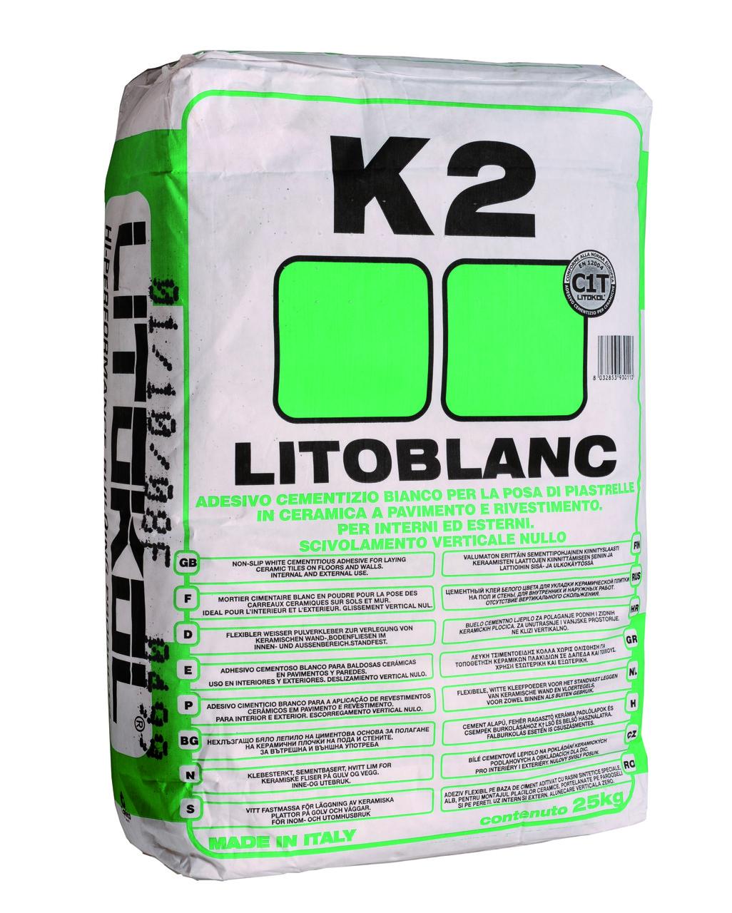Клей для мозаики Litokol Litoblanc K2(литокол к2) 25 кг - BMQ строительный маркет  в Киеве