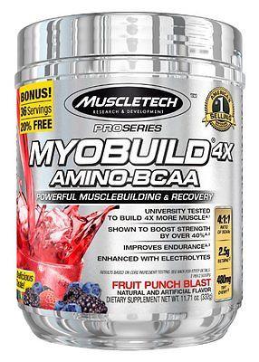 Лучший послетренировочный комплекс MyoBuild 4x Amino-BCAA от MucleTech