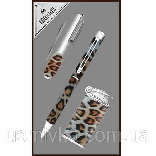 Набор : шариковая ручка, ножик, зажигалка ZN195513