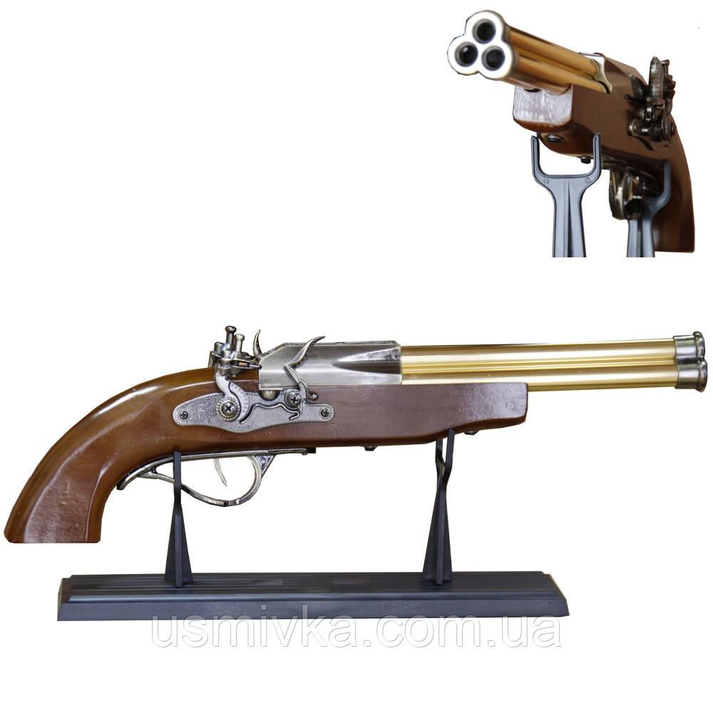 Зажигалка мушкет с тремя стволами. ZM1530