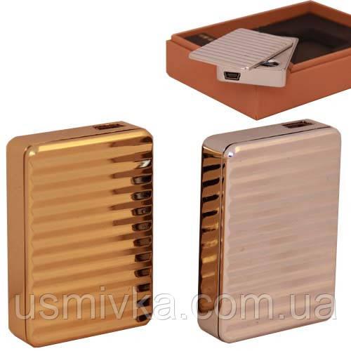 Классическая зажигалка юсб с рельефными полосами ZU234840