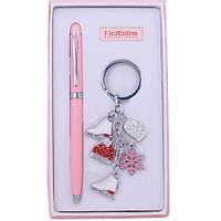 Набор для девушек в комплекте: шариковая ручка и брелок. ZN201404