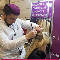 Коррекция Нарощенных Волос в Киеве Микрокапсульное Наращивание